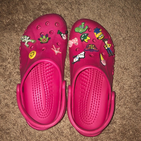 6e757fd2e CROCS Shoes - Classic Clog in Candy Pink with Fun Jibbitz